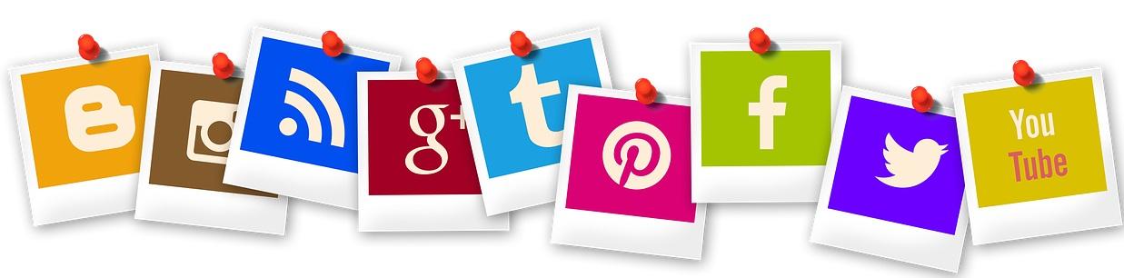 Ikonki social media na stronie firmowej